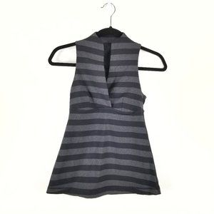 Lululemon black/gray stripe tank